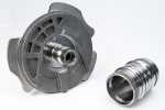 Parts produced by a blind spline broaching machine and tooling
